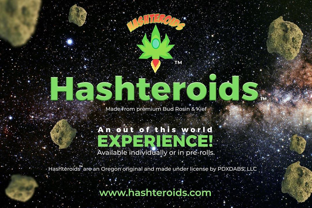 Fresh drop of #hashteroids available for #olcc retailers. These are solventless …