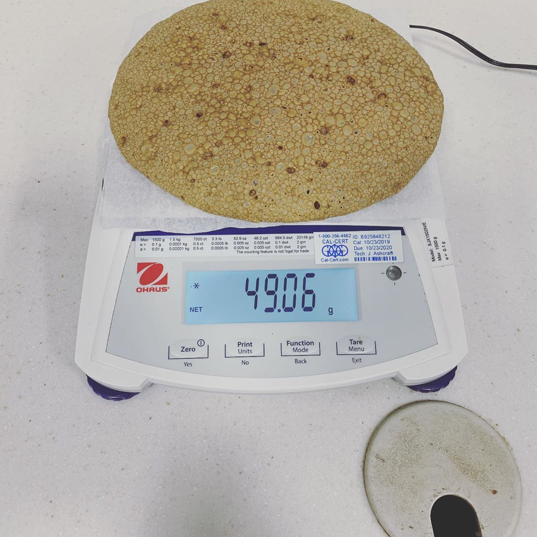 So close to a perfect 50gram solventless cookie. Santa are you ready? Got milk? …